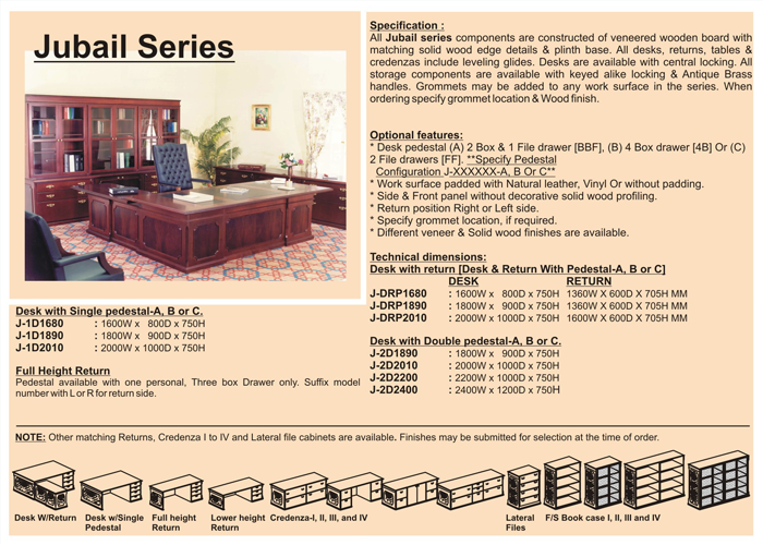 Office Furniture Desk Wooden J Jdr1680 Jubail